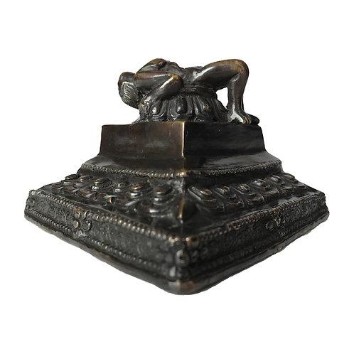 普巴杵座 銅 Phurpa base/stand (7)