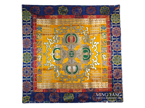 十字杵布 (紅) Double Dorje Cloth 88x88cm (N-1)