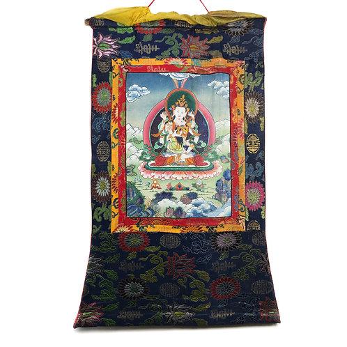 金剛薩埵 雙身 唐卡 Vajra Satwo Shakti Thangka 61x103cm