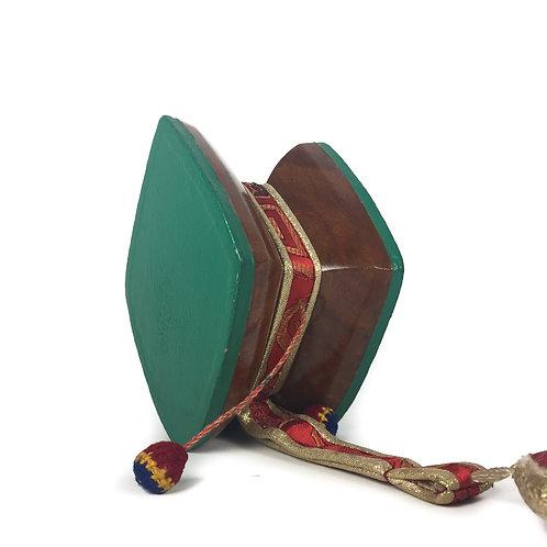 手鼓-木 菱形 wood Damaru Drum 11.5x9x7.5cm (5)