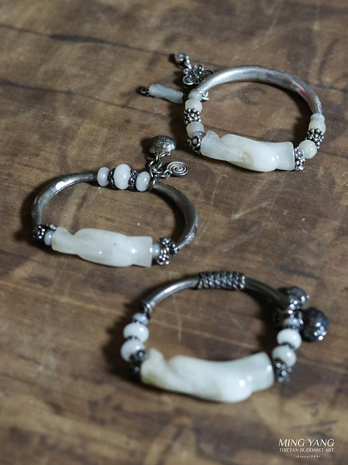 翁仲白玉手環 White Jade Bracelet 1pc (26)