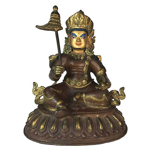 """四大天王 銅 半鎏金 手工 尼泊爾 佛像 Four Direction Gods Nepal 9.5"""" (23.5 cm) 4 PCS"""