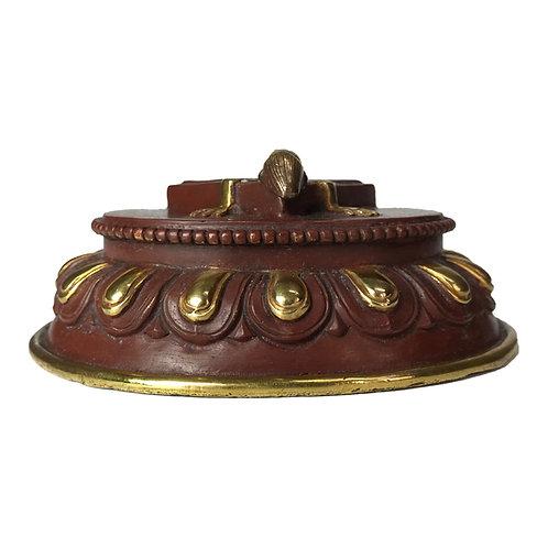 普巴杵座 銅鎏金 Phurpa base/stand Copper with gold (4)