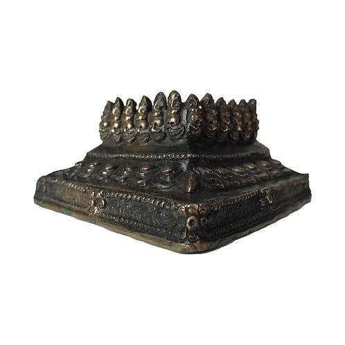 普巴杵座 銅 Phurpa base/stand (6)