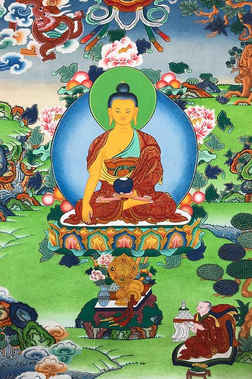 特惠價釋迦佛唐卡Sakyamuni Buddha Handpainted Thangka66X46cm