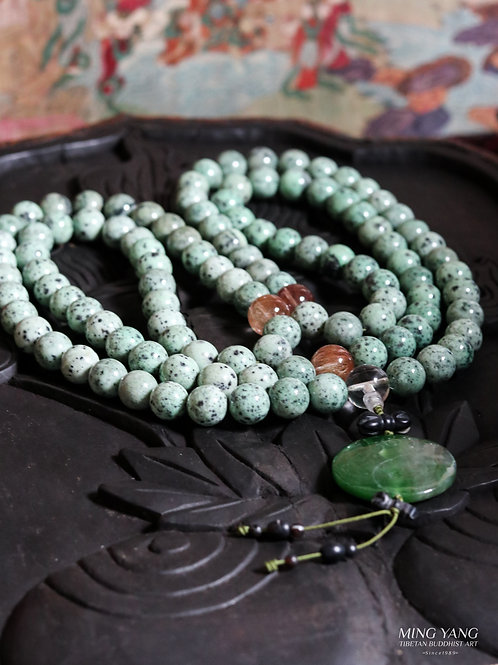 玉石念珠108 Jade Stone Mala Prayer beads 108