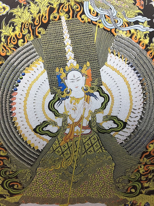 大白傘蓋 輸出印刷裝框 Dukar Printed Thangka with Frame