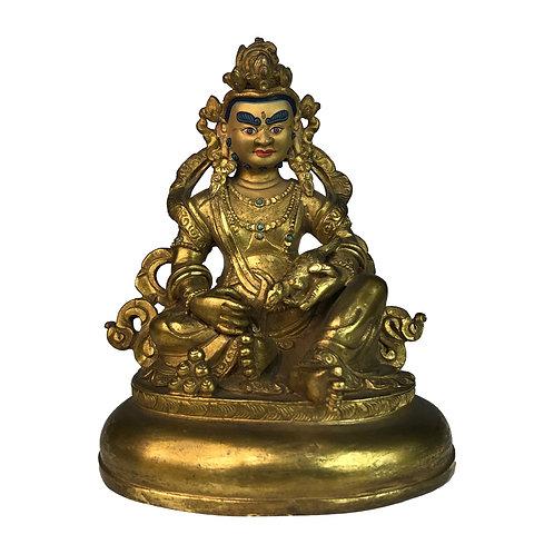 特殊財神-4 銅 全鎏金 手工 尼泊爾 Special Jambala Fully Gold Handmade Nepal 9x12cm / 0.5kg