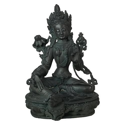 綠度母-3 銅 手工尼泊爾 佛像 Green Tara Copper Handmade Nepal 14x21cm / 1.6kgs