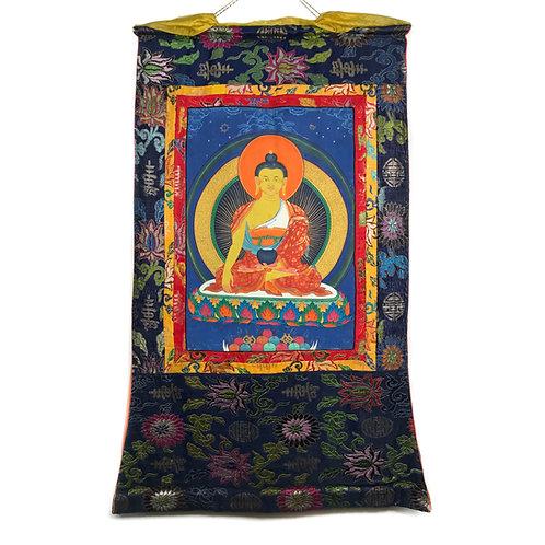 釋迦佛 (C) 唐卡 Sikyamuni Thangka 63x110cm