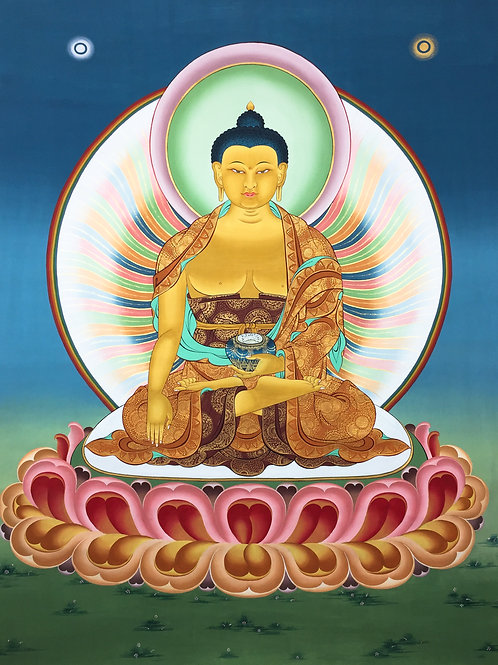 釋迦佛 不丹手繪 SakyamuniBhutan Handpainted Thangka 117x134cm