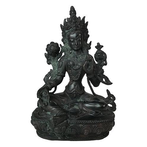 綠度母-4 銅 手工尼泊爾 佛像 Green Tara Copper Handmade Nepal 21cm / 1.7kgs