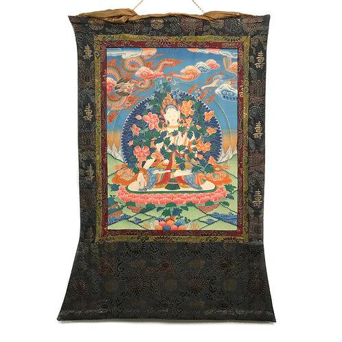 白度母 (A) 唐卡 White Tara Thanka 75x115cm