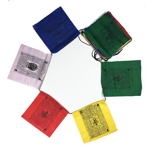 尼泊爾 天馬旗 5本尊 共25面 (中) Nepal Banners Mix 25 sides 買五送一 21x22cm (2)