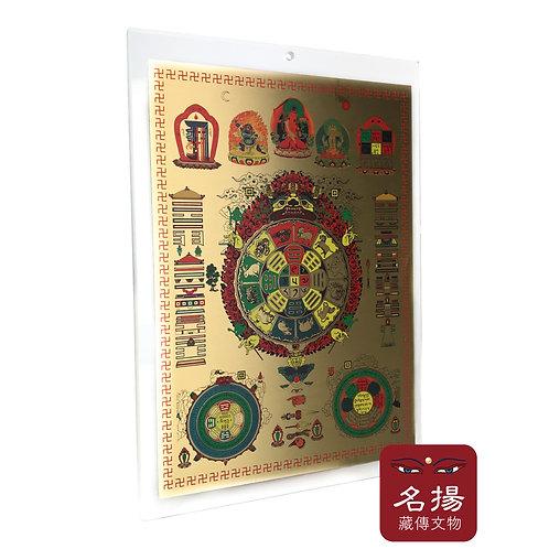 (4) 文殊 九宮八卦 20x28.5cm Sidpaho 1 pc [8]