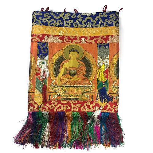 釋迦佛 橫布 10尊佛  10 Buddha Cloth 38x254cm