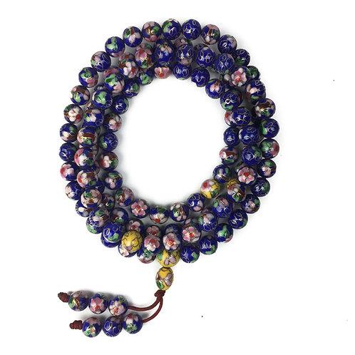 9mm 景泰藍 (藍) 108 唸珠 prayer beads