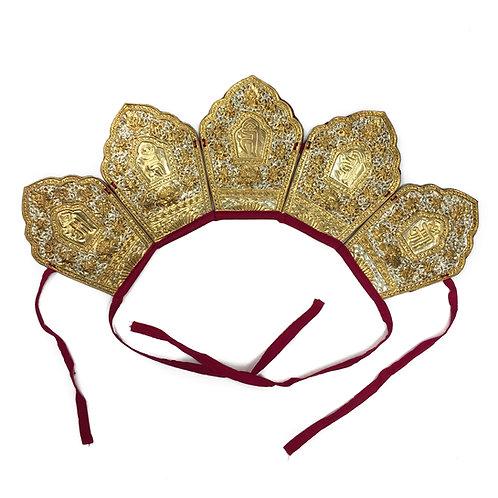 法帽 五方佛冠 Five Buddha Hat (B)