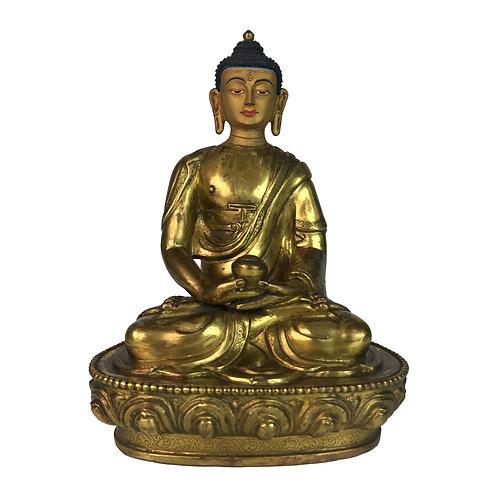 阿密陀佛 銅 全鎏金 手工 尼泊爾 佛像 Amitabha Copper Fully Gold 14x19cm / 1.3kgs