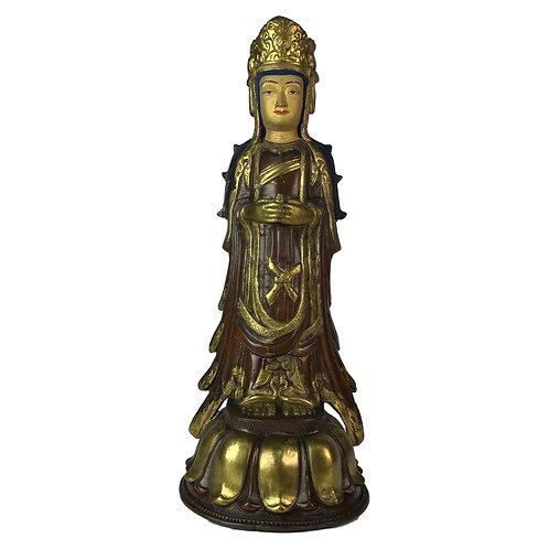 特殊佛像 立姿-1 銅 手工 尼泊爾 Special Standing Statue Handmade Nepal 13x32cm / 2kgs