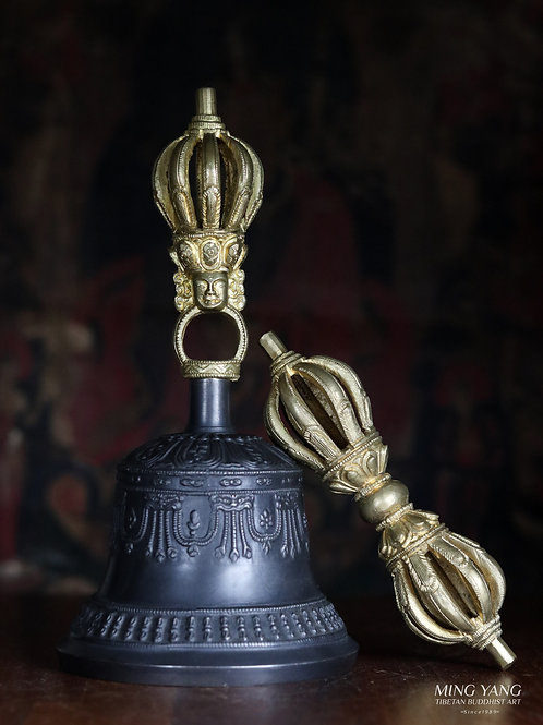 鈴杵 九股 Bell and Dorje 9 Leaf 19cm (4)