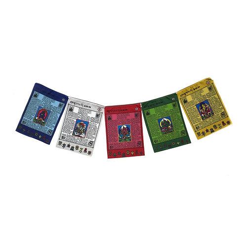 台灣天馬旗 彩色 (中) 五路財神 Taiwan Prayer Flags (M) Colored 5 sides 買十送一 29x21cm (3)