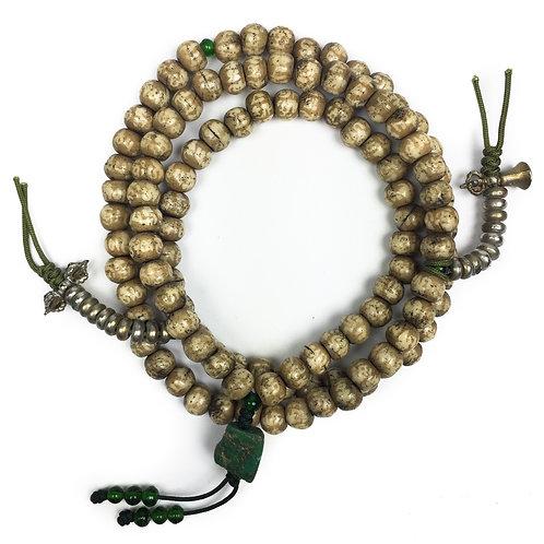 7 mm 六字大箴言 獸骨 108 唸珠 Bone Prayer Beads
