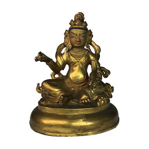 特殊財神-2 銅 全鎏金 手工 尼泊爾 Special Jambala Fully Gold Handmade Nepal 9x12cm / 0.5kg