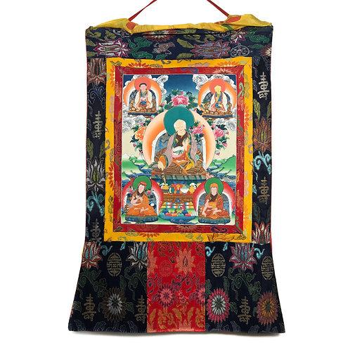 薩迦五祖 (A) 唐卡 Sakya Master Thangka 64x102cm