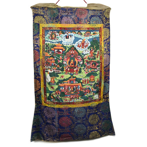 佛的故事 (G) 唐卡 Buddha Story Thangka 75x126cm