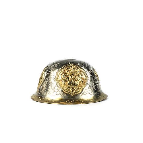 八供杯 銅鎏金鎏銀 尼泊爾 Offering cups Copper with gold & silver Nepal D6.75cm H3.5cm 8pcs