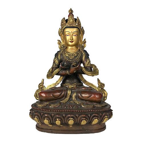 """金剛總持 銅半鎏金 手工 尼泊爾  Dorje Chang Copper Partly Gold Nepal 12"""" (30cm)"""
