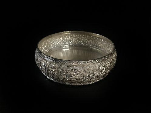 手曼達 銅鎏銀 手工 尼泊爾 Hand Mandala Coppersilver Gilted Handmade 直徑 D9.8cm
