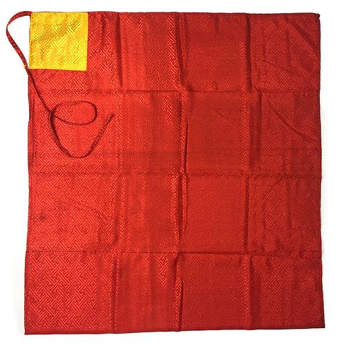 包經布 包法器布 紅 Puja book cover cloth 75x75cm