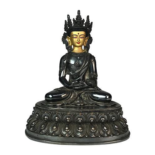 阿密陀佛 銅鎏銀 佛像