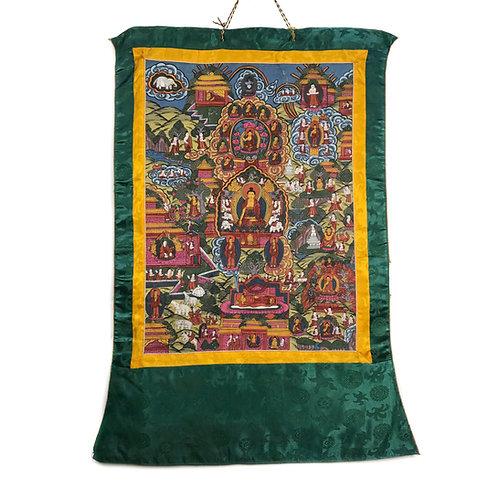 佛的故事 (F) 唐卡 Buddha Story Thangka 55x80cm