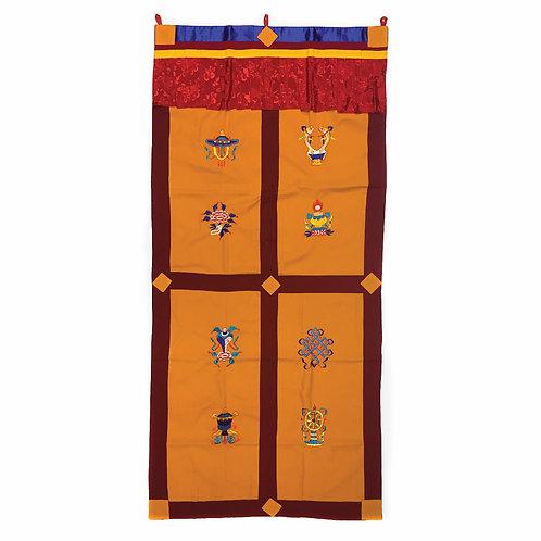 八吉祥 門布 door curtain 黃 90x180cm