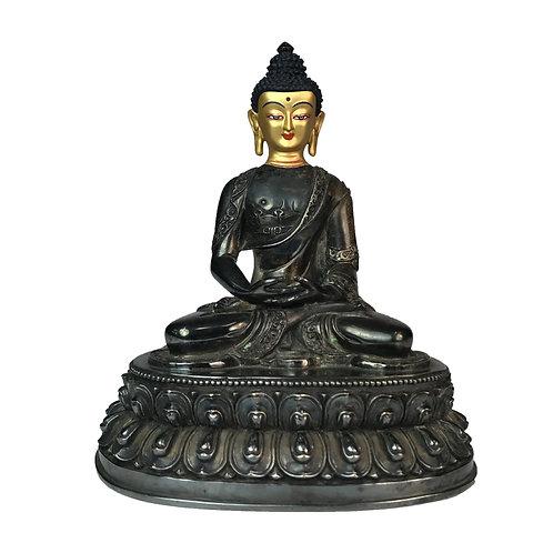 釋迦佛 銅鎏銀 佛像