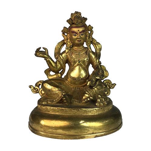 特殊財神-8 銅 全鎏金 手工 尼泊爾 Special Jambala Fully Gold Handmade Nepal 9x12cm / 0.5kg