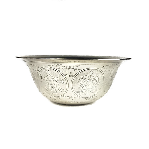 八供杯 (大) 銅鍍銀 (無腳) Offering cups (L)  silver plated Taiwan D10cm H5cm (8pcs/set)