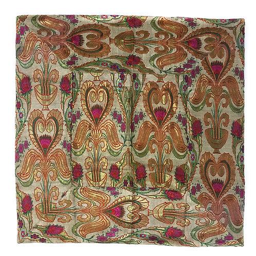 方形桌布 印度厚布 花圖案 Table cloth square flower design 100 cm