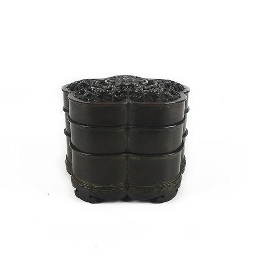 香爐 多層銅爐 梅花 Copper Burner 10x10x7.5cm