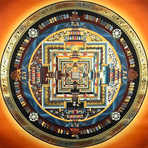 檀城泥金唐卡 精緻手繪MandalaHandpainted Thangka 110x110cm
