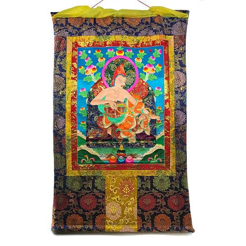上師-3 堆繡 唐卡 Cloth Thangka 85x136cm