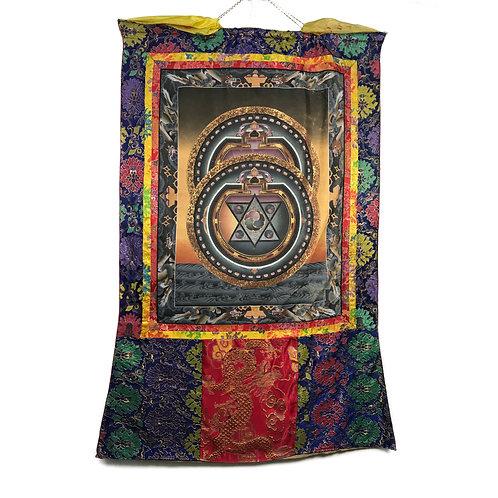 雙曼達拉 (E) 唐卡 Mandala Thangka 72x115cm