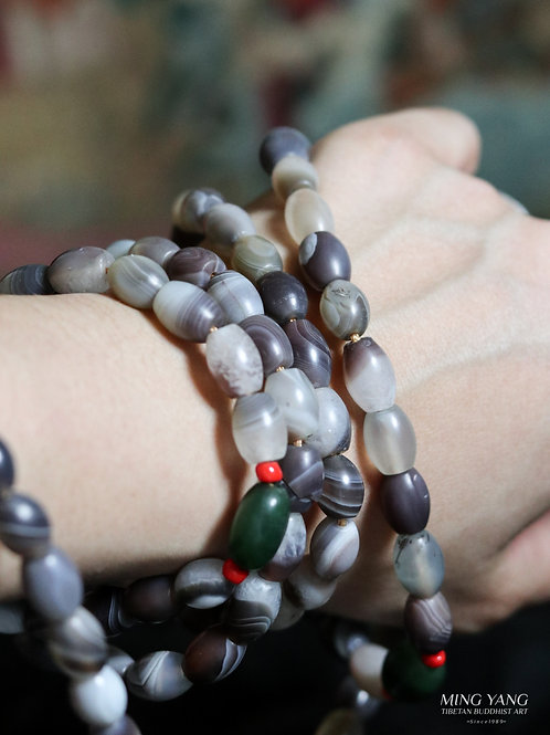 老瑪瑙念珠 108 Old Agate Stone Mala Prayer Beads 108  (買二送一)