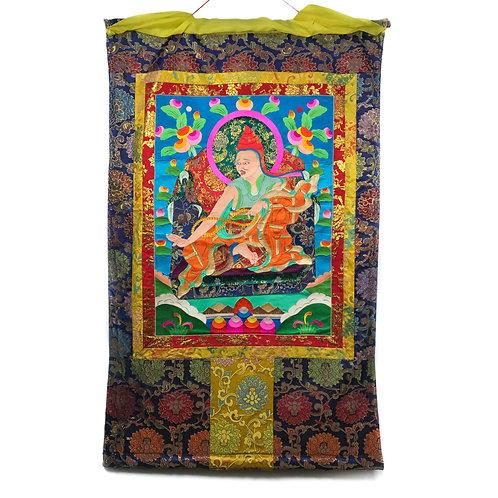 上師-1 堆繡 唐卡 Cloth Thangka 85x136cm