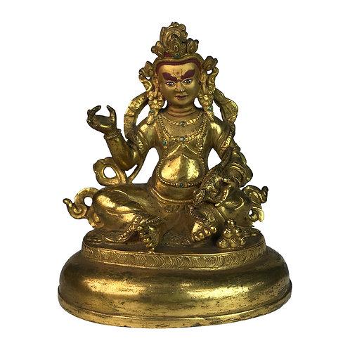 特殊財神-9 銅 全鎏金 手工 尼泊爾 Special Jambala Fully Gold Handmade Nepal 9x12cm / 0.5kg