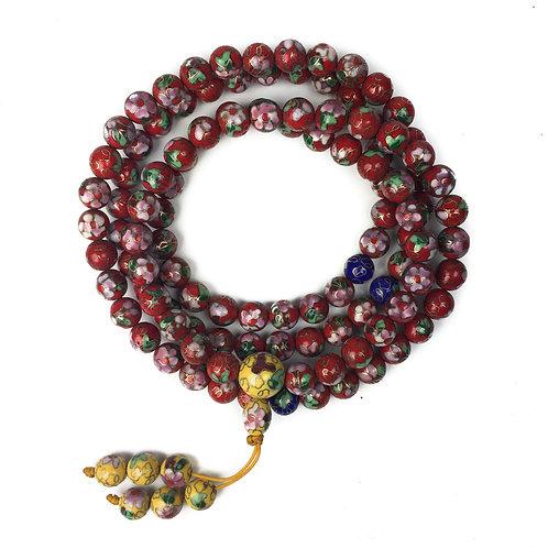 9mm 景泰藍 (紅) 108 唸珠 prayer beads