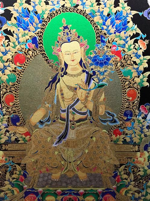 彌勒佛/未來佛唐卡 輸出印刷裝框  Maitreya/Future Buddha Printed Thangka